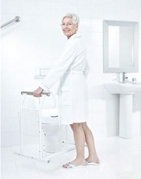 Mobile WC-Aufstehhilfe weiss Comfort