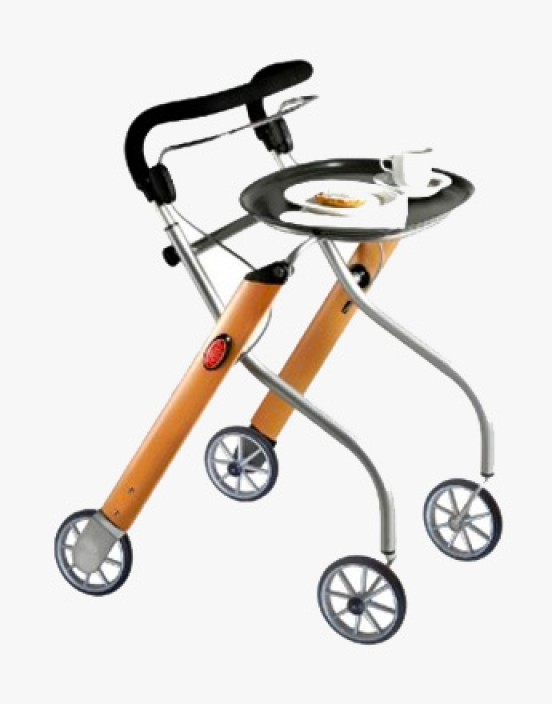 Aluminium Indoor-Rollator Let`s Go