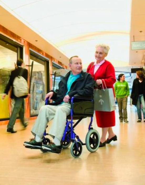 "Mietprodukt Transport-Rollstuhl 12"""