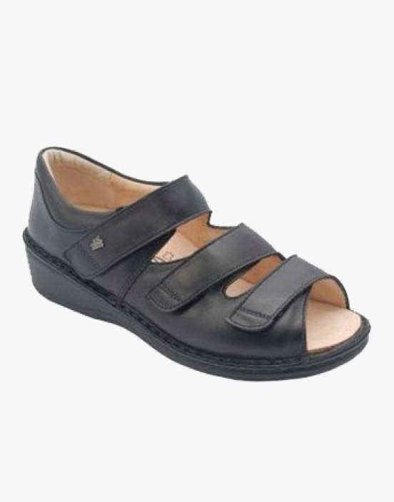 """96106 Schwarz Item number: 96106-070099 Sie haben sehr empfindliche Füße? Druckstellen machen das Gehen und Stehen unangenehm? """"FinnComfort"""" hat zusammen mit Medizinern und Orthopäden den Prophylaxe-Schuh entwickelt. Im Vordergrund steht die besonders wei"""