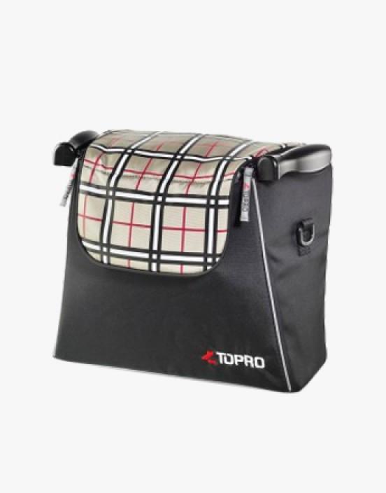 Einkaufstasche tartan-rot